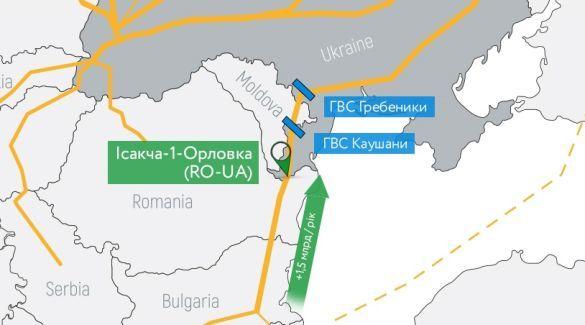 Постачання газу з Румунії
