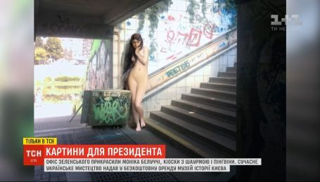 Шаурма, пингвины, голая девушка и Моника Белуччи - в Офисе президента появились новые картины