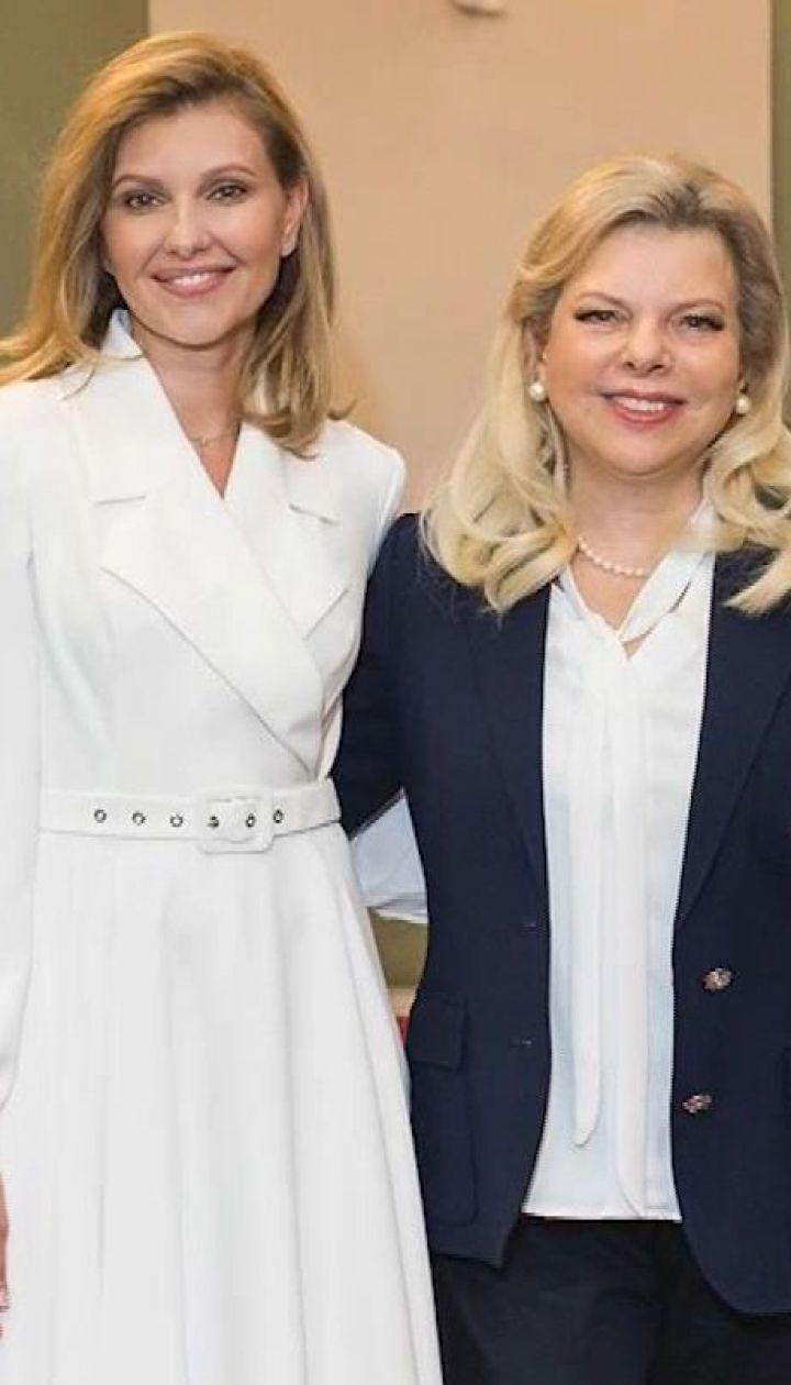 Олена Зеленська поділилася з дружиною прем'єр-міністра Ізраїля, що мріє зняти кіно про події в Бабиному Яру