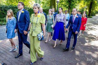 А почему не держат траур: королевские родственники нидерландской принцессы Марии-Кристины на церемонии прощания