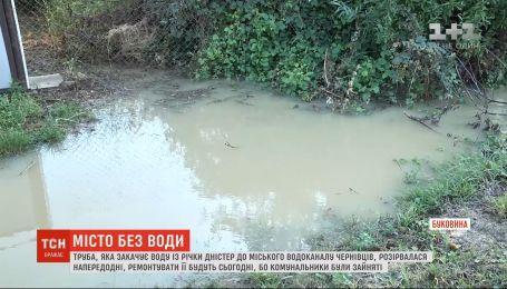 Черновцы остались без воды из-за масштабного прорыва водопровода