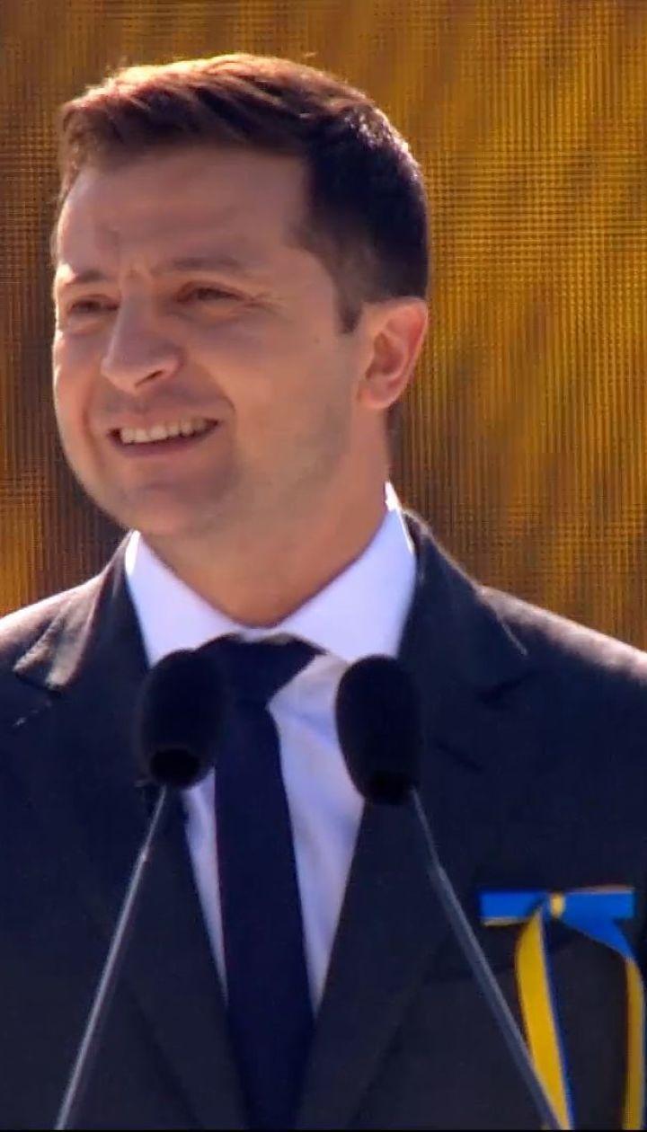 Речь президента Украины Владимира Зеленского ко Дню независимости 2019