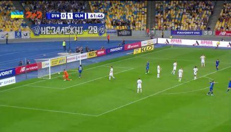 Динамо - Олимпик - 1:1. Видео гола Цыганкова