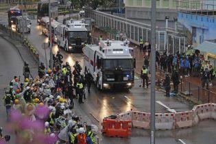 12-я неделя протестов в Гонконге: полиция впервые применила водометы против митингующих