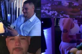 Выпивка, официантки в нижнем белье и обнаженные суши. Боксер-чемпион Руис устроил пати к своему дню рождения