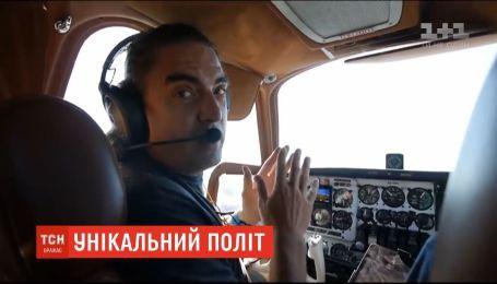 Украинский пилот перелетел на небольшом старом самолете из Лас-Вегаса в Житомир