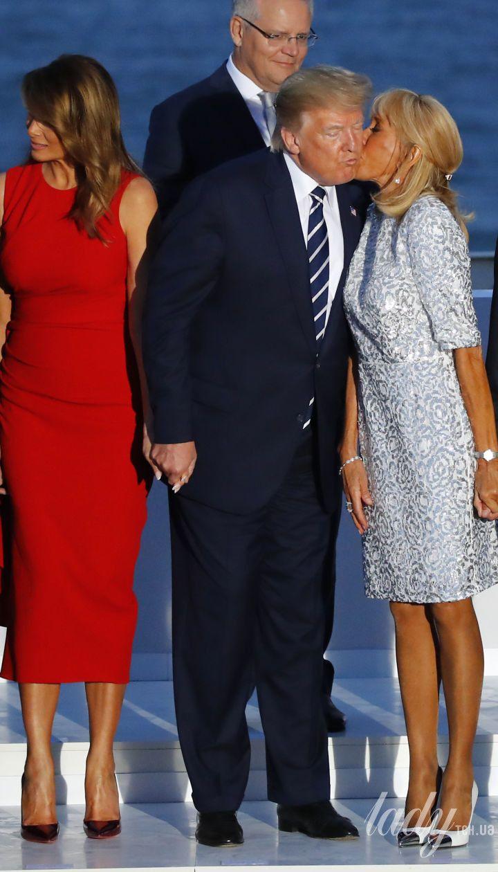 Мелания Трамп и Брижит Макрон