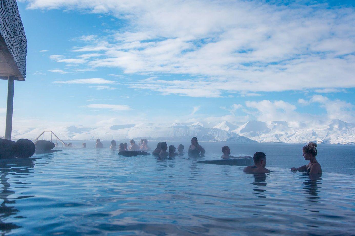 Геотермальные источникиGeosea (Хусавик, Исландия).