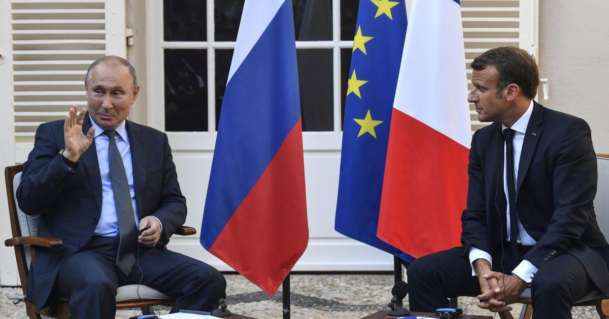 Макрон найближчим часом обговорить з Путіним українське питання