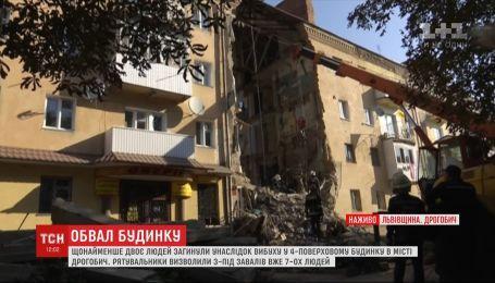 Ребенок смог выйти на связь из-под руин обрушившегося дома в Дрогобыче
