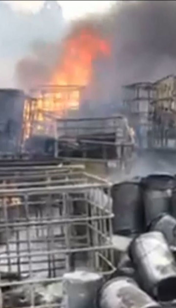 Недалеко от Львова несколько часов горело химическое производство