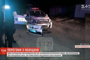 У Івано-Франківську під час переслідування порушник протаранив два поліцейських авто