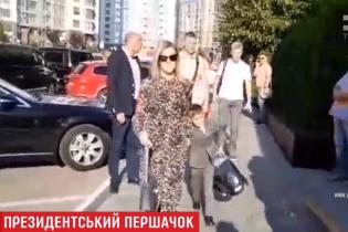 На праздничной линейке Зеленский с женой не дали журналисту снимать сына-первоклассника