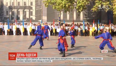 Переодетые в исторических персонажей актеры воссоздали историю основания Одессы