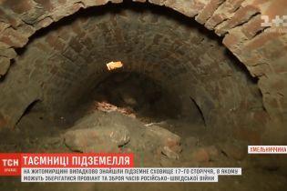На Хмельнитчине случайно откопали военные склады времен гетмана Мазепы