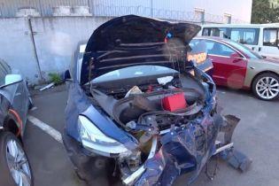 Автомеханики рассказали, сколько стоит восстановить Tesla Model 3 в Украине