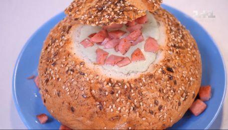 Кабачковым суп в хлебе - Правила завтрака. дети
