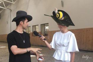 Звезды на модном показе: Катя Осадчая с улиткой на голове, Дан Балан в рваных джинсах