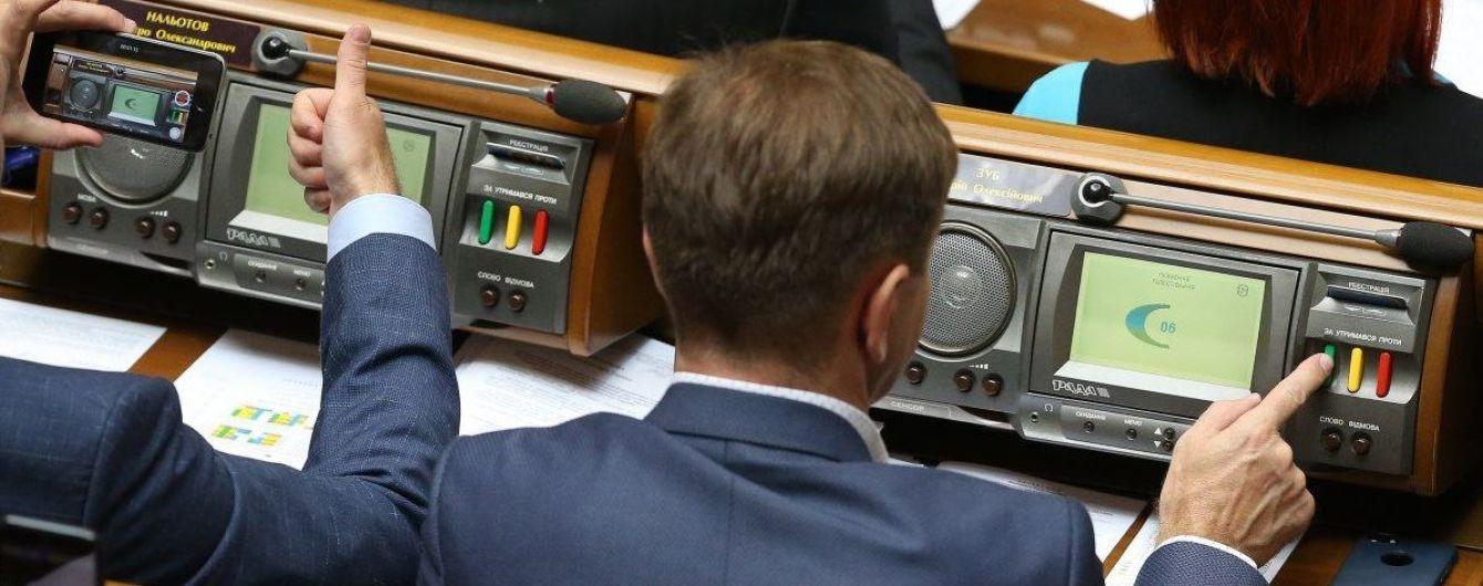 Рада направила в Конституционный суд законопроект о сокращении количества нардепов