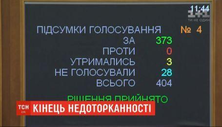 Историческое решение: депутаты проголосовали за снятие своей неприкосновенности