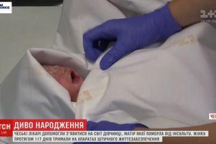 В Чехии родилась девочка, мать которой умерла за три месяца до ее появления на свет