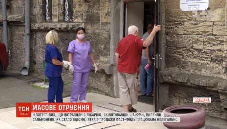 Сальмонеллез обнаружили у пострадавших, которые отравились шаурмой в Одесской области