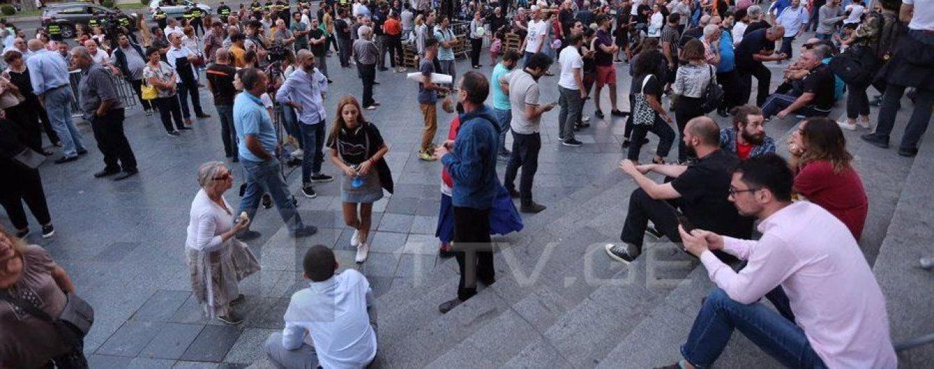 В Грузии протестуют против выдвижения Гахария в премьеры