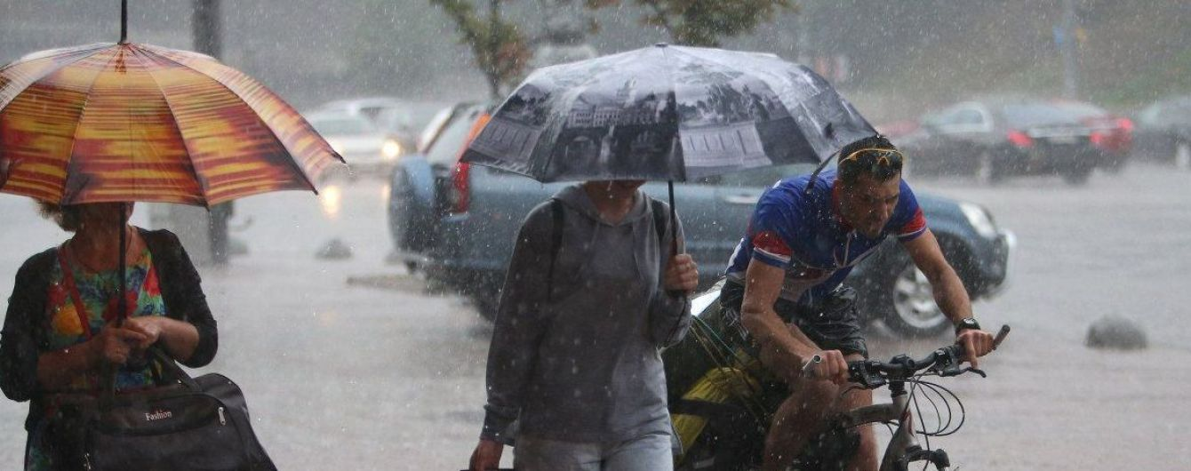 Дожди, грозы и +28 градусов: погода на четверг