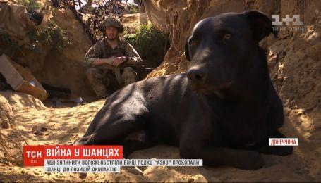 """Бойцы полка """"Азов"""" прорыли окопы к позициям оккупанта, чтобы остановить вражеские обстрелы"""
