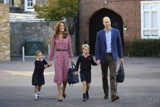 Принц Уильям и Кейт впервые отвели дочь в школу