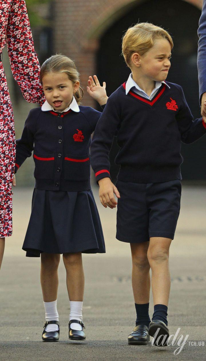 Принцесса Шарлотта и принц Джордж в школе Thomas's Battersea