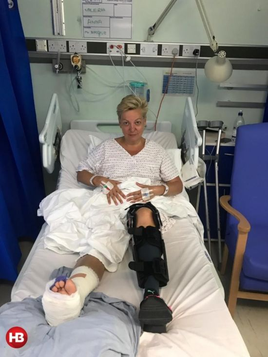 Гонтарева в гіпсі записала відеозвернення з лікарняного ліжка