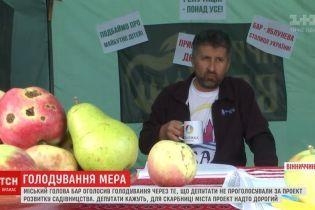 Мэр городка в Винницкой области объявил голодовку и поселился в палатке в центре города