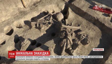 Скелет, которому минимум 6 тысяч лет, обнаружили археологи на Ровенщине