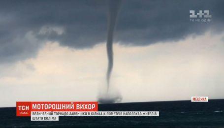 Огромный торнадо, высотой в несколько километров, напугал жителей штата Колима