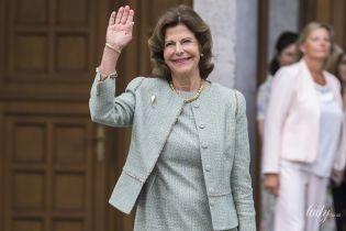 В стильном деловом луке: красивый выход 75-летней королевы Сильвии