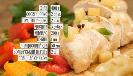 Куряче філе з ананасом на грилі - рецепти Сенічкіна
