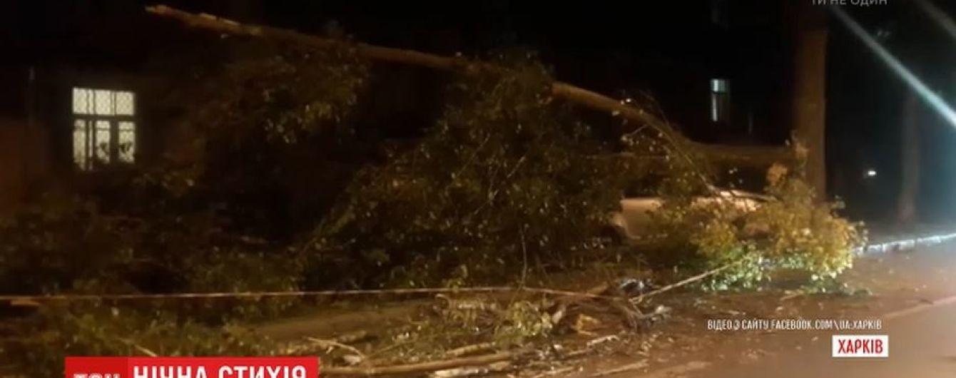 В Харькове 15-минутный ураган вырывал деревья и валил заборы