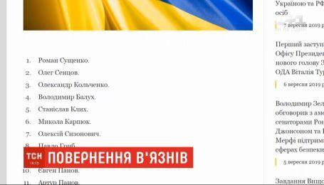 На сайте президента появился полный список освобожденных из плена украинцев