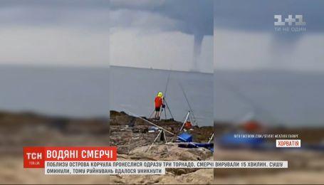 Вблизи острова Корчула пронеслись сразу три торнадо