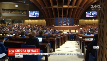 ПАСЕ призвала Россию не прятать от следствия главного свидетеля сбивания МН17 Владимира Цемаха