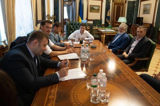 Коломойський назвав прізвища тих, хто не потрапив на фото під час його зустрічі із Зеленським