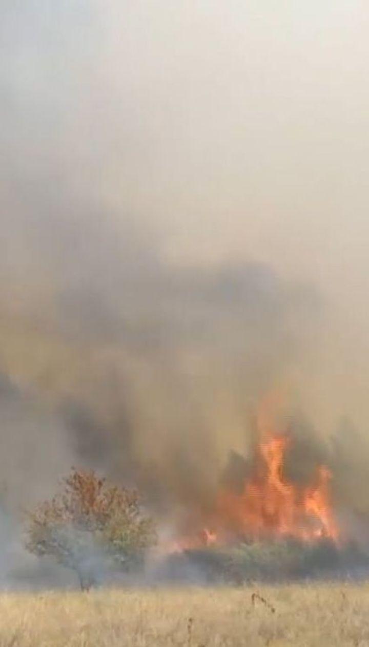 На Харківщині горить військовий полігон: люди потерпають від їдкого диму