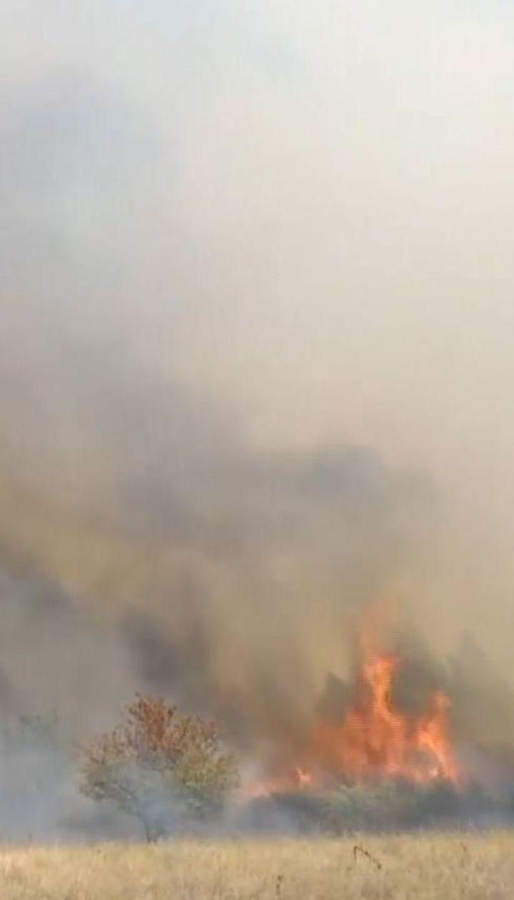 На Харьковщине горит военный полигон: люди страдают от едкого дыма