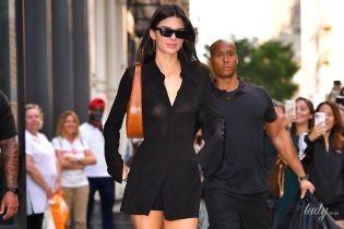 Знову нехтує білизною: Кендалл Дженнер у прозорій сорочці прогулялася Нью-Йорком