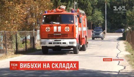 Причиной новых взрывов на Калиновском арсенале может быть горение сухой травы