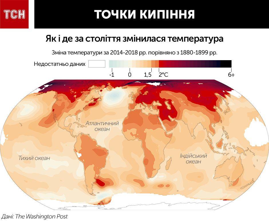 Як змінилась температура на планеті. Інфографіка