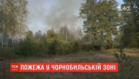 Чрезвычайникам удалось потушить пожар в Чернобыльской зоне