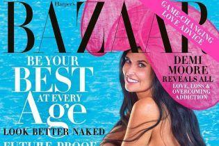 56-річна Демі Мур в об'ємному капелюсі повністю оголилася для обкладинки журналу