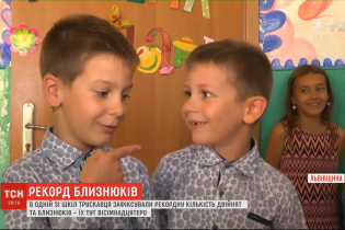 У Трускавецькій школі навчається рекордна кількість близнят, двійнят і одна трійня